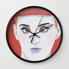katyPerry funny face Wall Clock