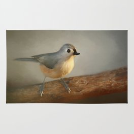 Winter Tufted Titmouse Rug