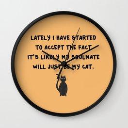 Cat Soulmate Wall Clock