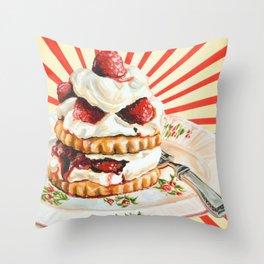 Raspberry Shortcake Throw Pillow