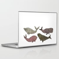 whales Laptop & iPad Skins featuring Whales by Saara Kaa