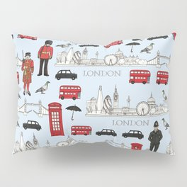 London Skyline and Icons Pillow Sham