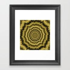 Eye Boggling Explosion in Gold Framed Art Print