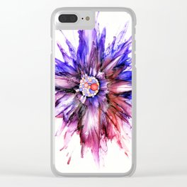 Painted Star Flower Abstract Clear iPhone Case
