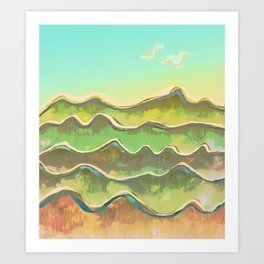 Magic Flight over the Sea of Clouds Art Print