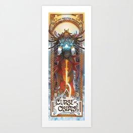 the curse of osiris Art Print
