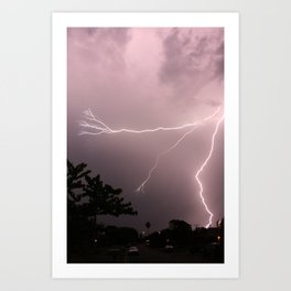 Lighting over the beautiful land Art Print
