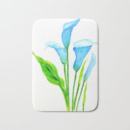 blue calla lily 2 Bath Mat