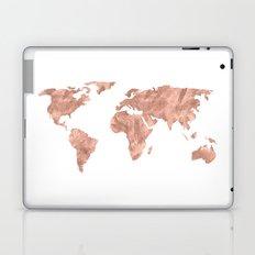 World Map Rose Gold Pink Vintage Laptop & iPad Skin