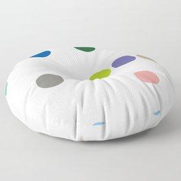 colourful pokka Floor Pillow