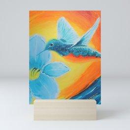 Joy hummingbirds   Joie Mini Art Print