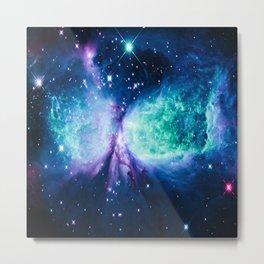 A Star is BORN Violet Seafoam Midnight Teal Metal Print