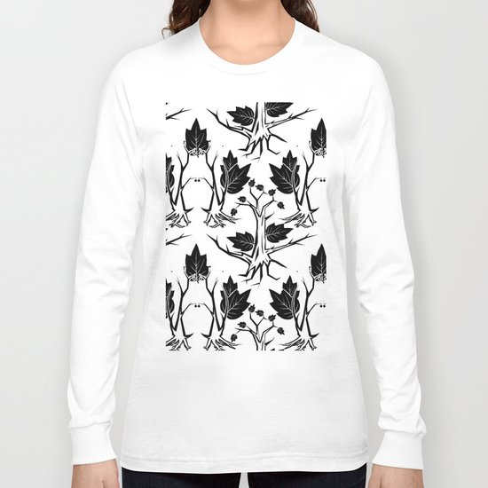 Pattern tree black Long Sleeve T-shirt