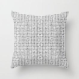 Dots (Shadowed) - Black x Grey Throw Pillow