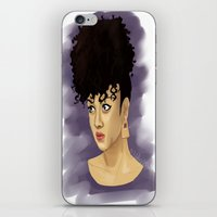 afro iPhone & iPod Skins featuring Afro by Adelys