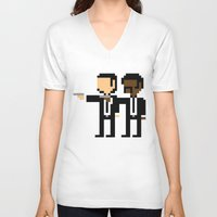 pulp V-neck T-shirts featuring Pulp Pixel by william.