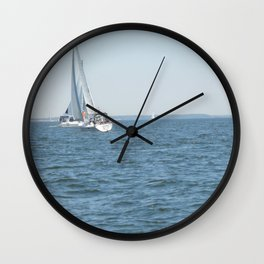 Sweet Day On the Bay Wall Clock