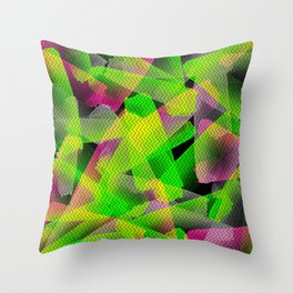 I Don't Do Normal - Abstract Print Throw Pillow