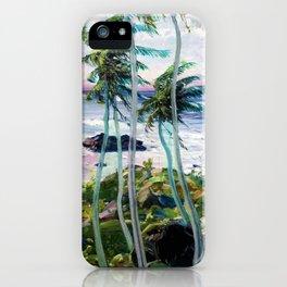 Vintage Tropical Palm Tree Art iPhone Case