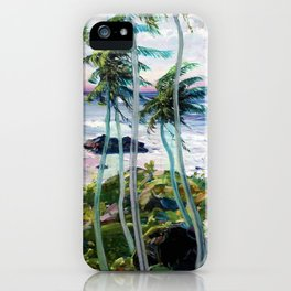 Vintage Tropical Palm Tree Art iPhone Case