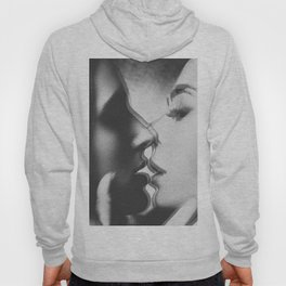 Two girls kissing Hoody