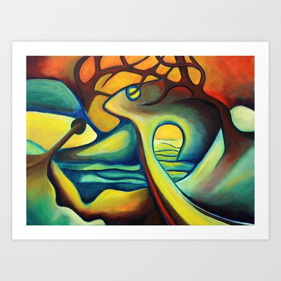 Fish Monument Art Print