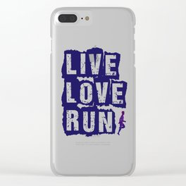 Live Love Run Clear iPhone Case