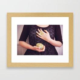 A butterfly ring Framed Art Print