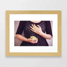 A butterfly ring Framed Art Print