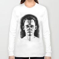 tom hiddleston Long Sleeve T-shirts featuring Tom Hiddleston by LilKure