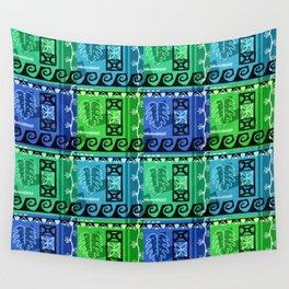 Hawaiian Pattern #1 - marine colors! Wall Tapestry