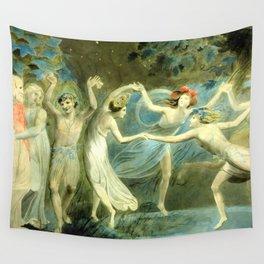 """William Blake """"Oberon, Titania and Puck with Fairies Dancing"""" Wall Tapestry"""