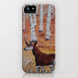 Okapicorn Forest iPhone Case