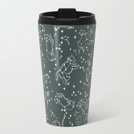 Animal Constellations - Gray by Andrea Lauren Travel Mug