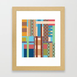 All about pattern 4 Framed Art Print