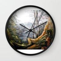 elf Wall Clocks featuring Elf by Cassie's Wonderland