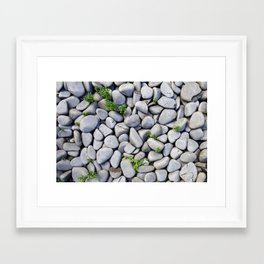 Sea Stones - Gray Rocks, Texture, Pattern Framed Art Print