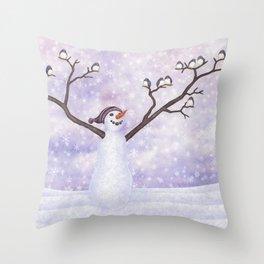 snowman joy Throw Pillow