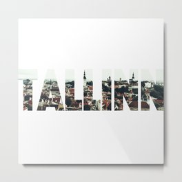 Tallinn City Old View Landscape Tallin Estonia Metal Print