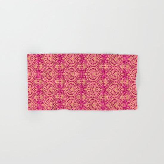Simple Ogee Pink Hand & Bath Towel