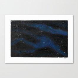 Spacescape Alien Head Canvas Print