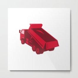 dump dumper truck dumping load rear Metal Print