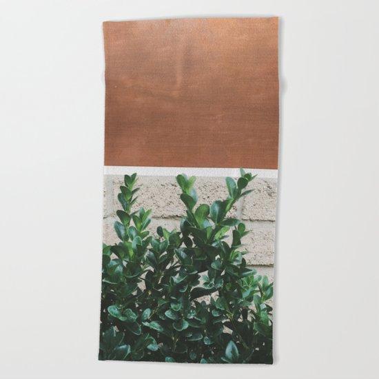 Plant + Copper #society6 #buyart #decor Beach Towel