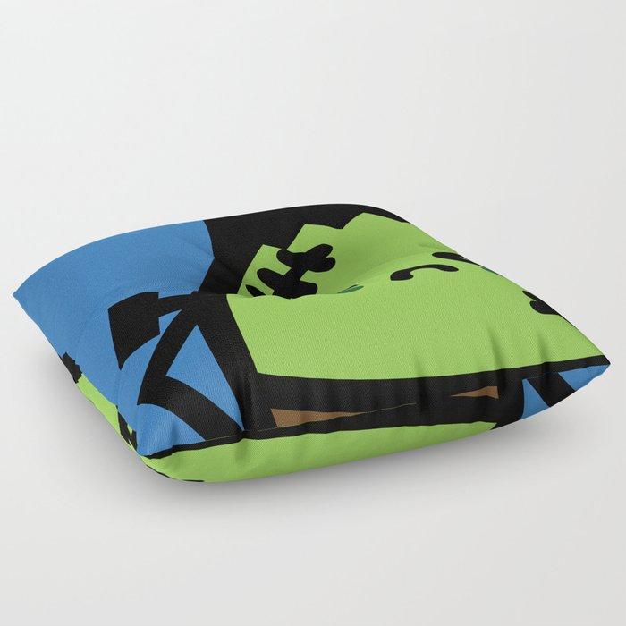 Creepy Egg Frankenstein - Halloween Floor Pillow