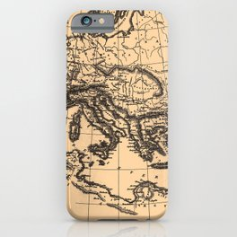 Iconographic Encyclopedia of Science, Literature and Art (1851) - The Roman Empire under Constantine iPhone Case