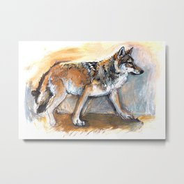 Totem Chinese Tibetan Wolf Metal Print