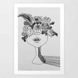 FLOWER POWER | Original illustration by Natalie Burnett's Art Art Print