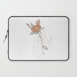 Hand Floral Laptop Sleeve