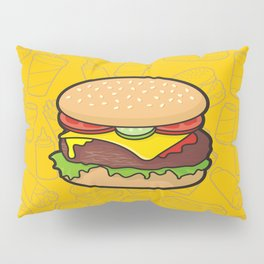 Cheeseburger Pillow Sham