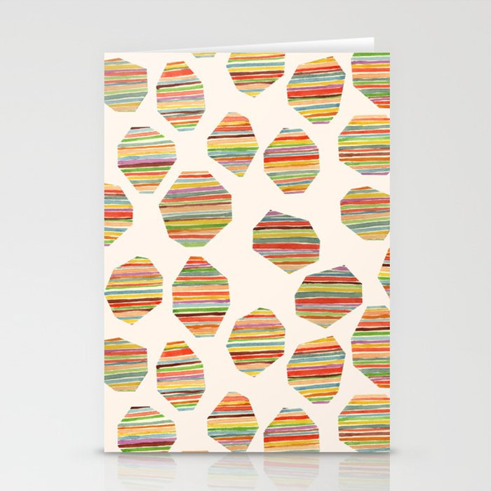 watercolor geometric lines Stationery Cards